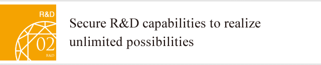 Secure R&D capabilities to realize unlimited possibilities