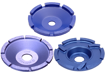 """Blue"" (Single Cup Wheel / Segment Face Grinder) / ""Prime Cup"" (Single Cup Wheel)"
